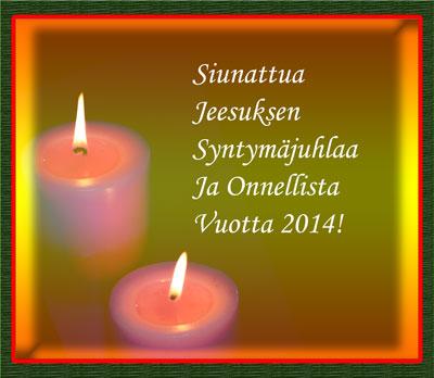 siunattua joulua 2013